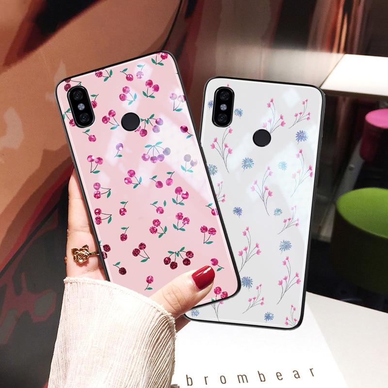 Yagoo Flowers Phone Case For Xiaomi Mi 9 8 SE A2 Lite 6 5 5S Plus