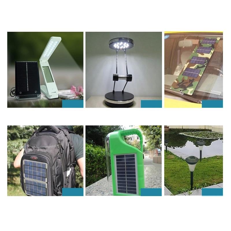 Baterias Solares para a energia solar lâmpada Material : Silicone Policristalino