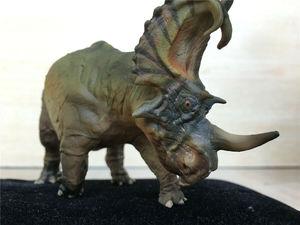 Image 4 - PNSO Spinops Centrosaurus Styracosaurus Dinosaur Figure Toy Collector Kids Gift