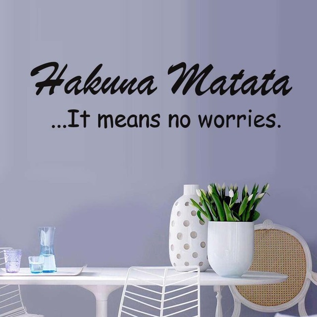 Wall decal quote hakuna matata letters words decals vinyl wall sticker interior home decor art mural