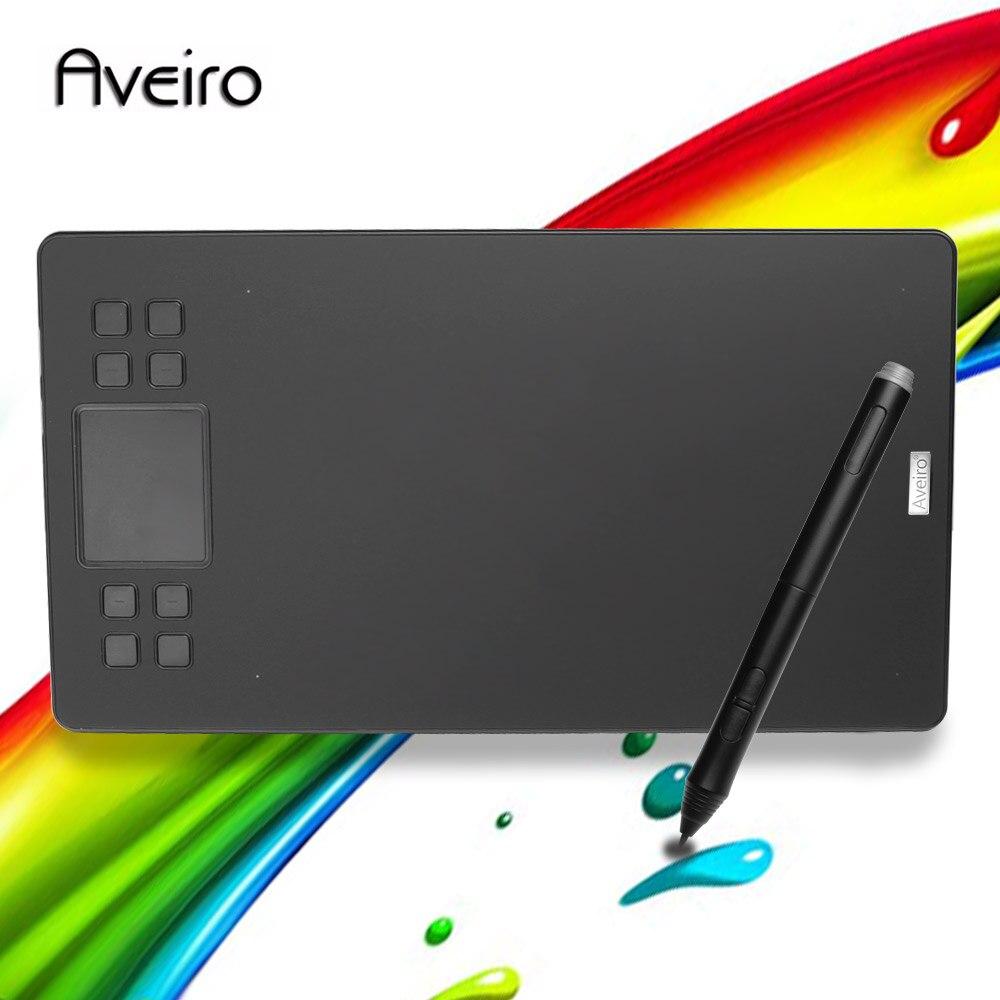 Aveiro original tablettes numériques professionnel 10 pouces tablette graphique pour dessin avec USB Art tablette numérique 2048 niveaux stylo