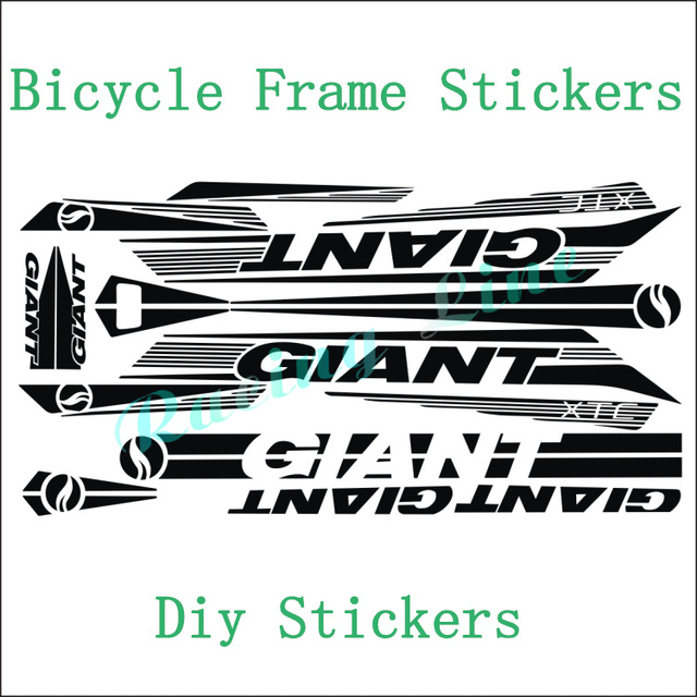 Giant xtc motorcycle stickers bicycle frame stickers cycling diy stickers frame decals decorative frame decals bike