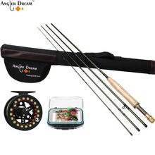 Fly Fishing Rod Fly Fishing Reel and Line Combo 3/4/5/8WT Carbon Fiber Fly Rod with Triangle Cordura Tube