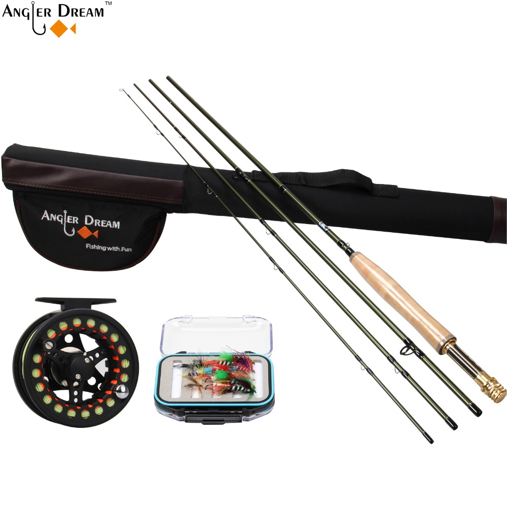 Fly fishing rod fly fishing reel and line combo 3 4 5 8wt for Trout fishing rod and reel