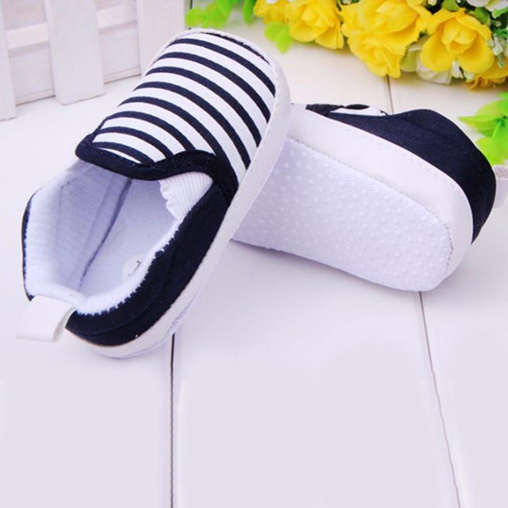 Baby Boys Shoes Infant Slip-On First Walkers Toddler Striped Canvas Sneaker bebek ayakkabi