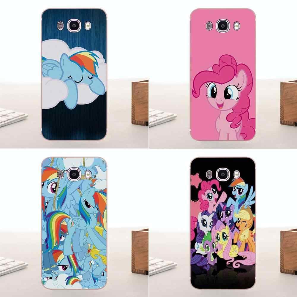 Bixedx милые мягкие кожи для Samsung Galaxy A3 A5 A7 J1 J2 J3 J5 J7 2015 2016 2017 Продажи My Little Pony Конструкции Роскошные