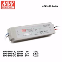 Mean Well LPV 100 5V 12V 24V 100W LED Waterproof Driver Single Output Switching Power Supply