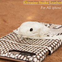 Handmade Genuine Snake 3D Head Leather Case For Iphone X 8 7 6S Plus Customize Python Case Cover for Apple iphone 5 5S 6 SE 10 S