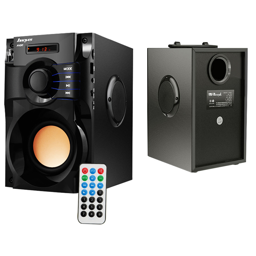 Bluetooth Speaker Wireless Stereo Subwoofer Heavy Bass Speakers Music Player Support LCD Display FM Radio TF