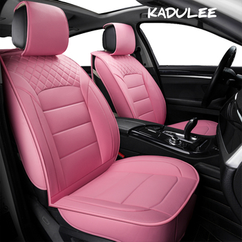 KADULEE pu leather Universal Car Seat covers for Toyota all models rav4 wish land cruiser mark auris prius camry corolla crown