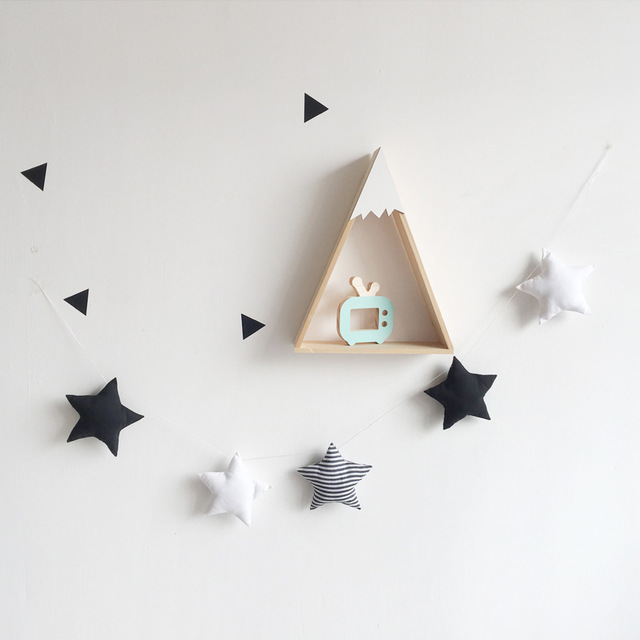 5pc Set Simple Star Garland Ornament Kid S Bedroom Hanging Wall Decoration Nursery Decor Christmas