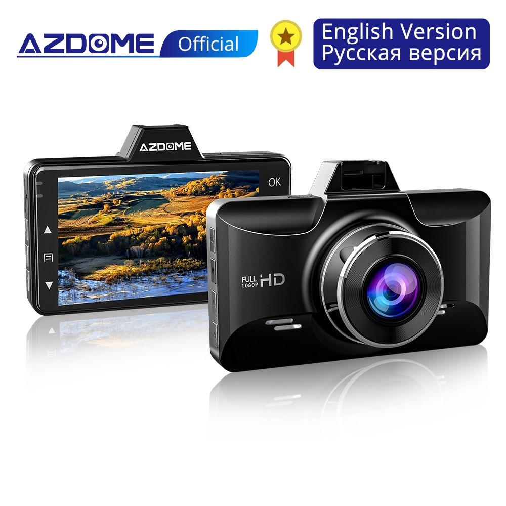 AZDOME Mini Full HD1080P Dash Cam 3 inch 2.5D IPS Screen Car DVR Camera