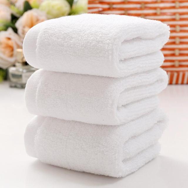Soft White Cheap Face Towel Small Hand Towels Kitchen Towel Hotel  Restaurant Kindergarten Cotton Towel