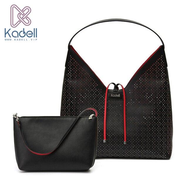 Kadell 2017 выдалбливают Дамские туфли из PU искусственной кожи Сумки Винтаж Стиль Для женщин Сумки дизайнер сумка Элитный бренд композитный мешок