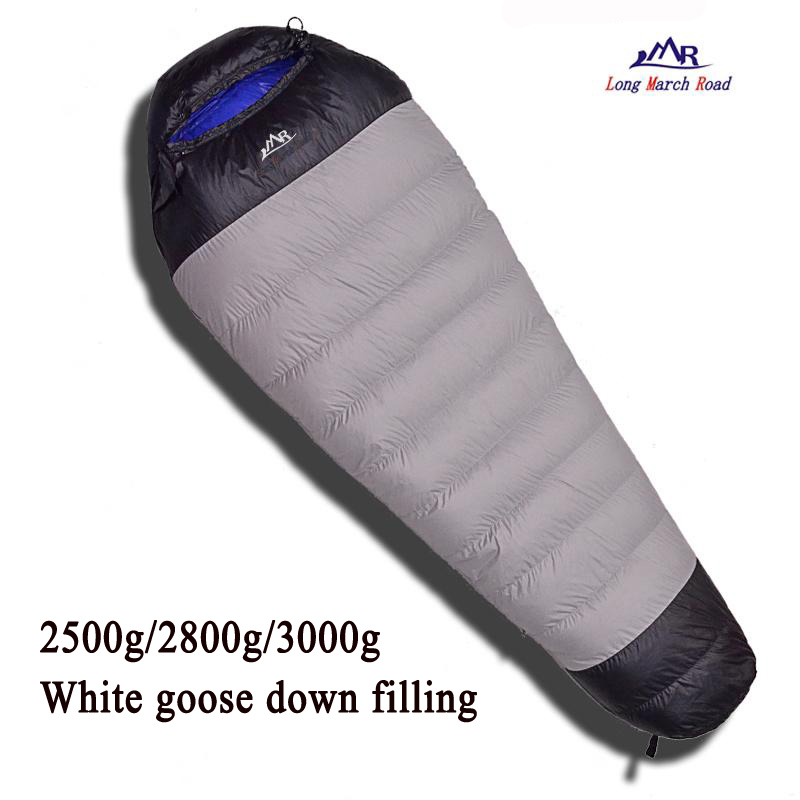 LMR ultralight comfortable goose down filling 2500g/2800g/3000g down can be spliced camping sleeping bag