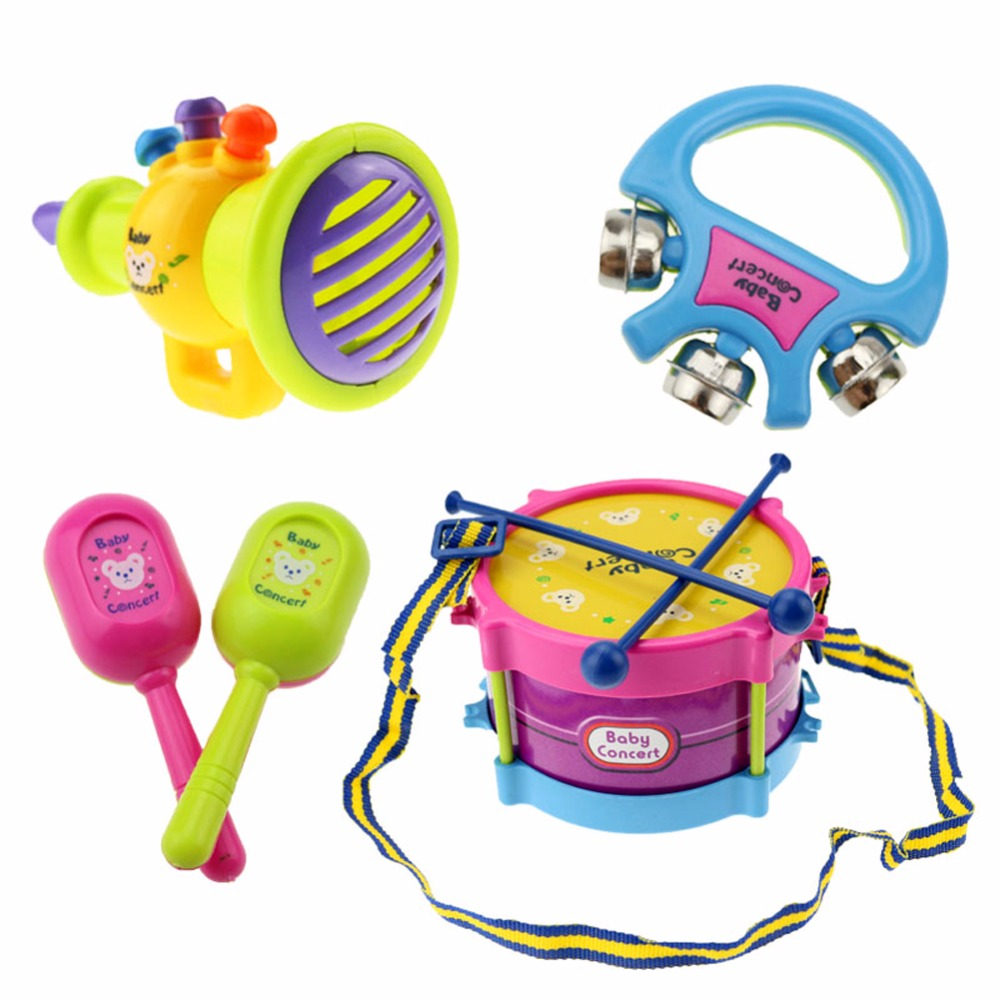 5pcsset-Educational-Baby-Kids-Roll-Drum-Musical-Instruments-Band-Kit-Children-Toy-Baby-Kids-Gift-Set-for-Children-5