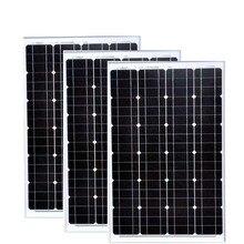 TUV Waterproof Mono Solar Panel 12v 60w 3 PCs Moduels 180w Charger  Off Grid RV Camping Car Caravane Motorhome