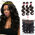 7A Malaysian Virgin Hair With Frontal Closure 130% Density ,Nadula Hair 13x4 Lace Frontal With Bundles, Swiss Lace Very soft
