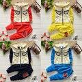Del otoño del resorte del hombre araña del bebé traje chaqueta con capucha + pantalones largos Boy Set Casual ropa para niños ropa 2 unidades moda ropa bebe