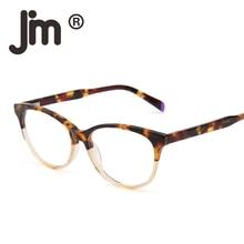 цены на JM Retro Eyeglasses Acetate Optical Frame Spring Hinge Clear Lens RX-able Glasses Men Women в интернет-магазинах