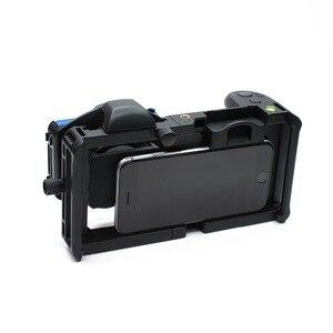 Image 4 - Cage commune de tournage de plate forme vidéo de stabilisateur dappareil photo de Smartphone de Cage de lapin + lentille pour lappareil photo destabilizador de téléphone diphone de Xiaomi