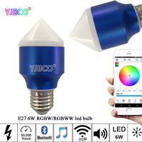 E27 AC85 265V Magic 6W Blue RGBW RGBWW Led Smart Bluetooth 4 0 Dimmable Bulb Smartphone