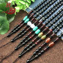 Hot Selling Fashion Torques Necklaces Fashion Long Bead Sweater Chain Hang a Rope Necklaces Hand-woven Torques Necklaces(China)