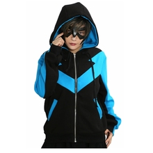 Xcoser Nightwing mikina Superhero bunda Costume COSplay pánská mikina Adult Props