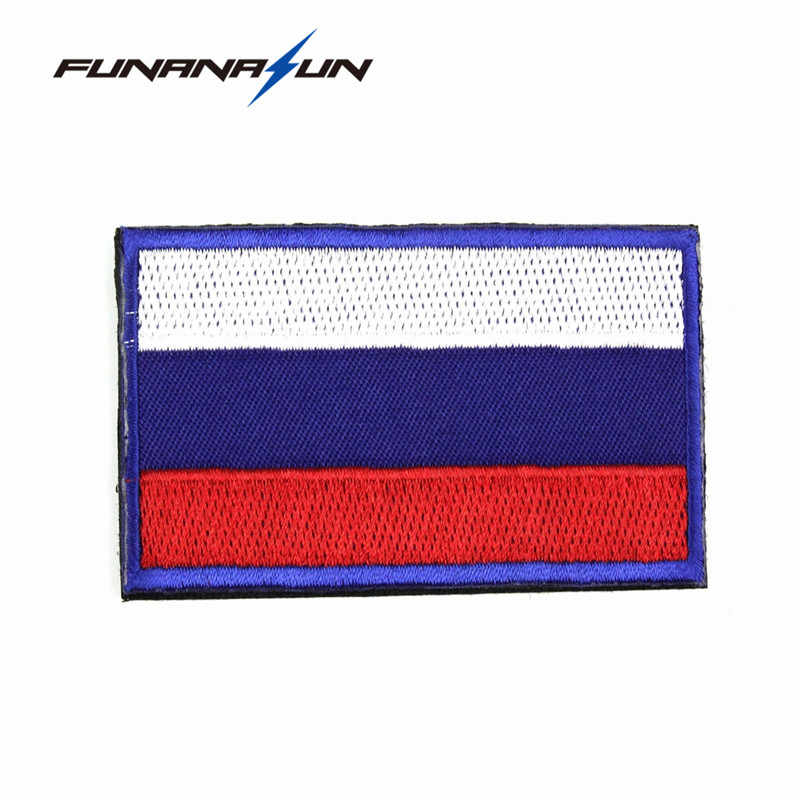 cb6e43bd0e8 ... Tactical Russia Flag Embroidery Patch Military 3D Badge Backside  Stickers for Clothes Uniform Hook Loop ...