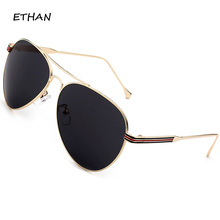 ETHAN Vintage Sunglasses Women 2017 Brand Designer Oval Alloy Frame Casual Sunglasses Ladies Unisex Men Eyeglasses UV400 New