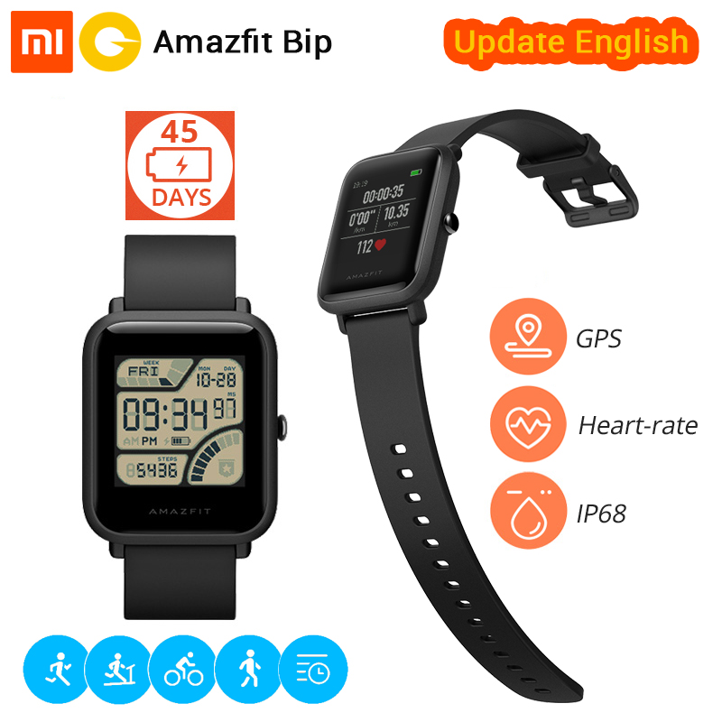 [English Version] Xiaomi Huami Smart Watch Amazfit Bip Sports watch Pace Lite Bluetooth 4.0 GPS Heart Rate 45 Days Battery IP68 english version original xiaomi huami amazfit youth smart watch bip bit face gps fitness tacker heart rate baro ip68 waterproof