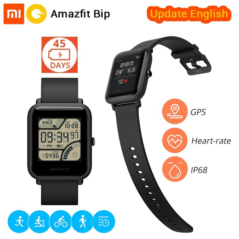 [Versão em inglês] Xiaomi Huami Bip Esportes relógio Ritmo Relógio Inteligente Amazfit Lite Bluetooth 4.0 Freqüência Cardíaca GPS 45 Dias Bateria IP68