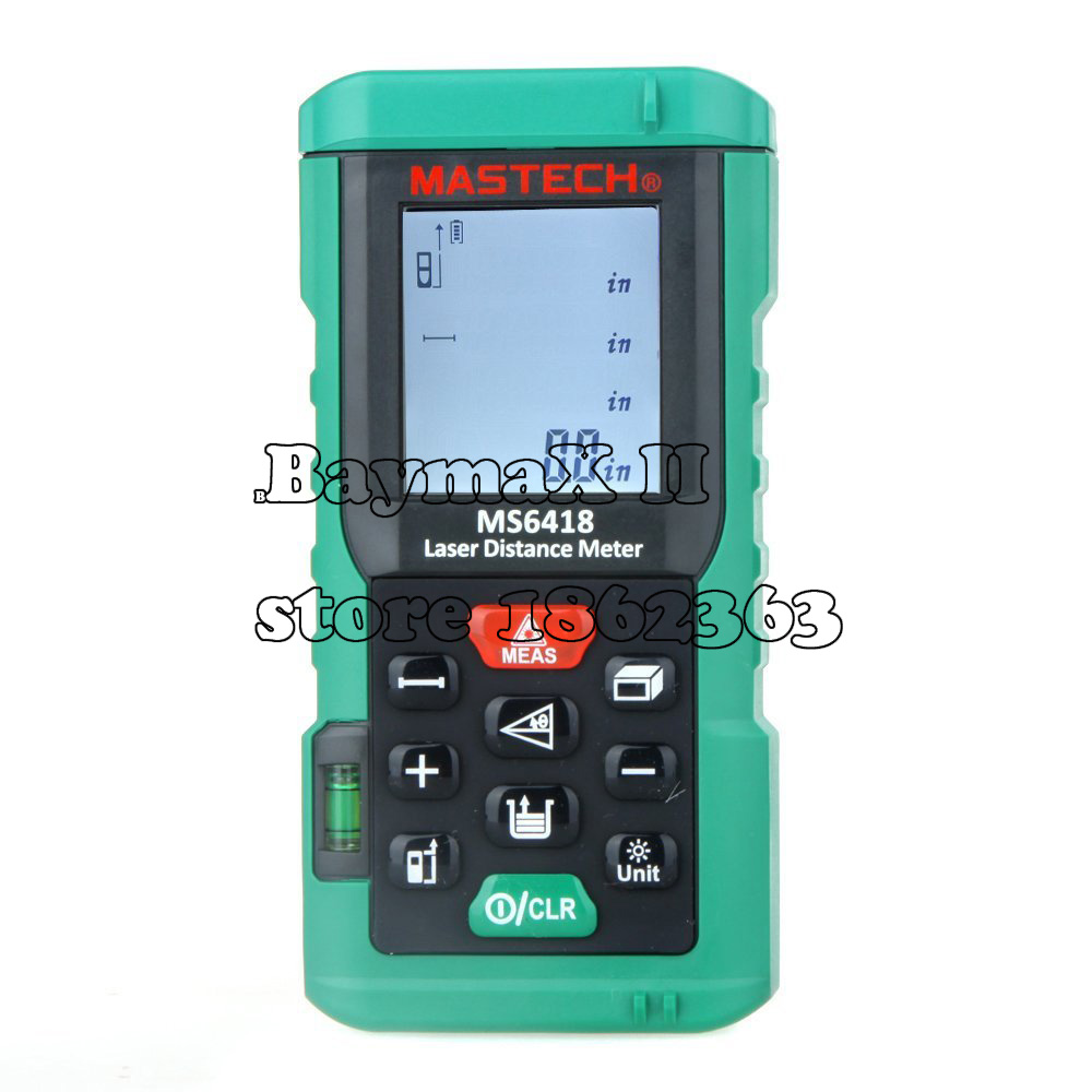 MASTECH MS6418 80m Distance Meter Rangefinder Tape Measure Level Tool mastech ms6418 laser distance meter 80m distance measure digital range finder with bubble level