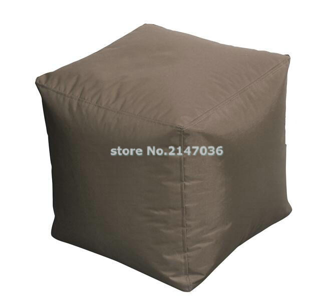 все цены на brown bean bag ottoman pouf ottoman square ottoman,outdoor waterproof beanbag seat в интернете