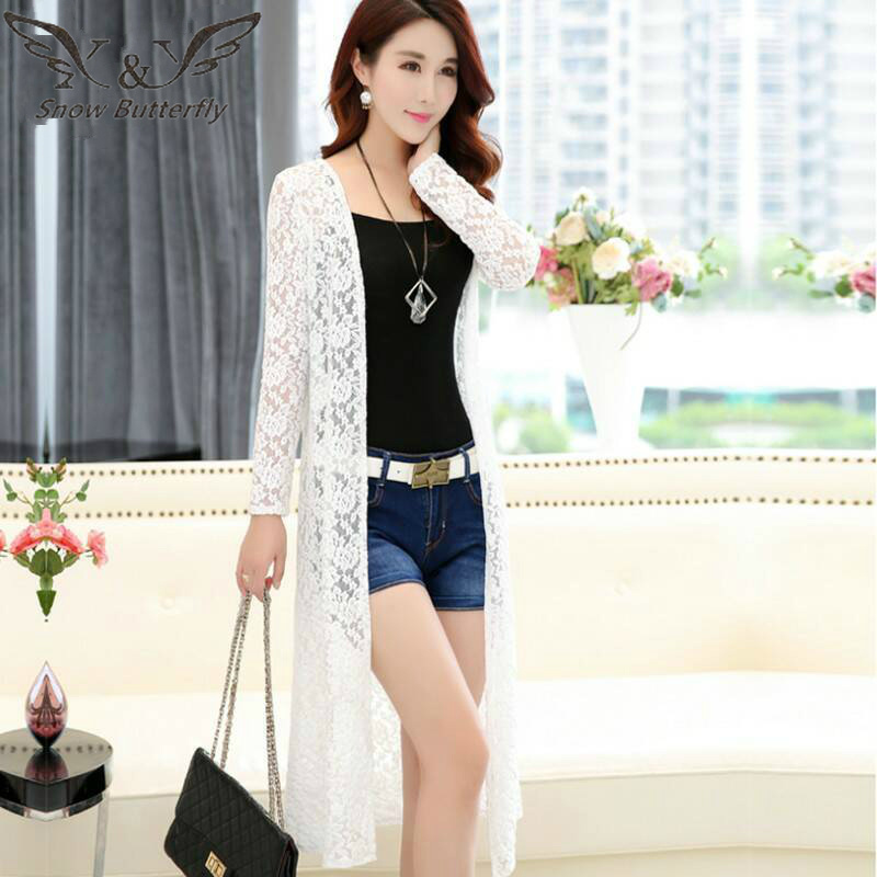 2019 Women's Clothing Lace Sun Protection Clothing Female Long Summer Shirt Korean-style Shawl Coat Thin Cardigan Blouse 114