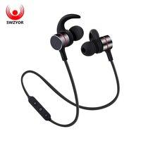 SWZYOR S03 Wireless Bluetooth Earphone Smart Magnetic Power On Off Earbuds Sport Anti Sweat Metal Headphone