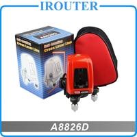 A8826D 360 градусов самовыравнивающийся перекрестный лазерный уровень 1V1H красный 2 линия 1 балл горячая распродажа