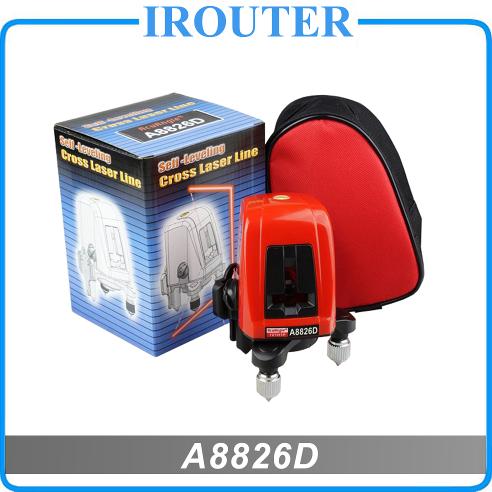 A8826D 360 degrés auto-nivellement Croix Niveau Laser 1V1H Rouge 2 ligne 1 point VENTE CHAUDE