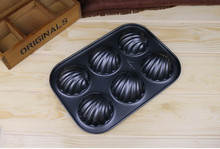 Wholesale Nonstick Flower Shell Round Bakeware 6-Cup Cake Pan Mini Muffin Pan Cake Molds Cake Decorating Tools Free Shipping