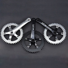 Cycling Fixed gear black aluminium alloy chain wheel 42T 44T 46T crankset road bicycle 170mm crank Chainwheel free shipping