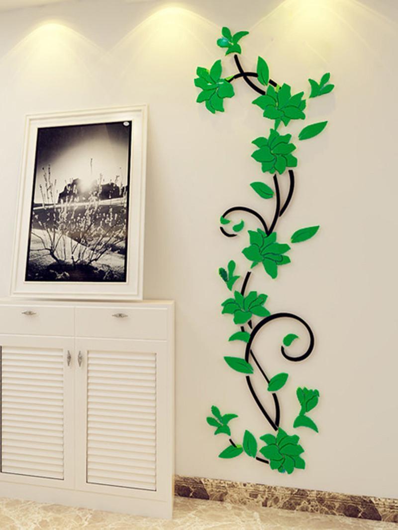 creativo espejo de pared pegatinas decoracin de la sala de acrlico adhesivo espejo decorativo dormitorio