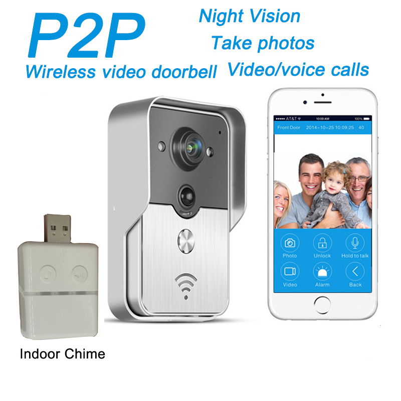 720P IP Wifi Doorbell Camera With Motion Detection Alarm Wireless Video Intercom Phone Control IP Door Phone Wireless Door Bell wireless video call ip camera kit with door magnetic door alarm super high voice quality voip phone