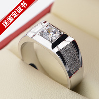 925 sterling silver men's domineering big ring silver jewelry Platinum white ring free shipping