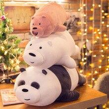 цена на 40 60cm giant stuffed animals toys panda bear large stuffed plush toys for children girls soft cute nordic cartoon baby nice