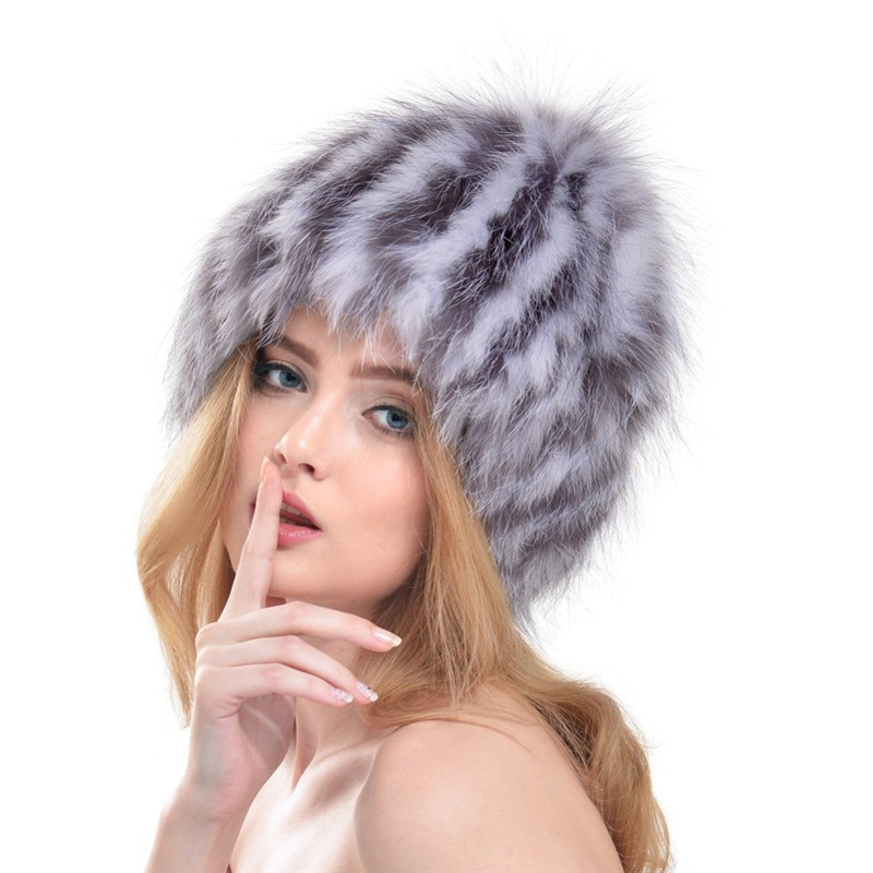 QUEENFUR-Women-Real-Silver-Fox-Fur-Hat-Muticolors-Ladies-Raccoon-Fur-Beanies-Winter-Fox-Fur-Headgear (2)