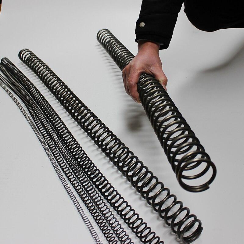1 m long fil robuste diamètre 4.5mm à 6mm diamètre extérieur 40mm à 60mm acier inoxydable ressorts de compression