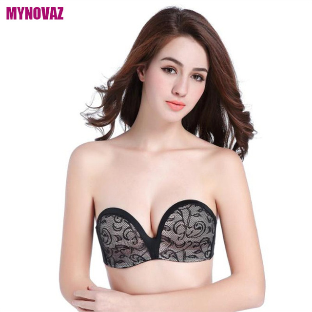 1f2828f4f0879 MYNOVAZ-Hot Sell Sexy Invisible Bras Seamless Lace Bralette One-Piece  Strapless For Women Push Up Fashion Wireless Bra Plus Size