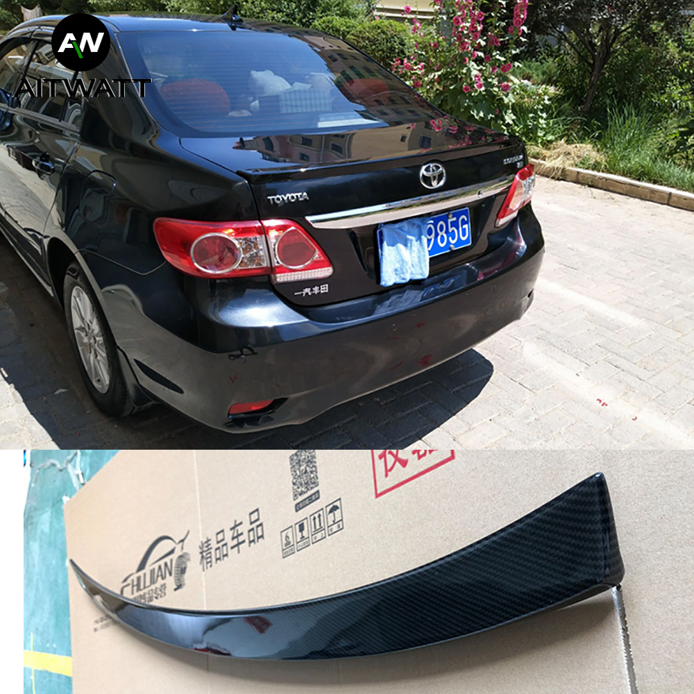 AITWATT For <font><b>Toyota</b></font> <font><b>Corolla</b></font> 2007 2008 2009 <font><b>2010</b></font> 2011 2012 2013 Carbon Fiber Rear Roof <font><b>Spoiler</b></font> Wing Rear Trunk Boot Wing <font><b>Spoiler</b></font> image