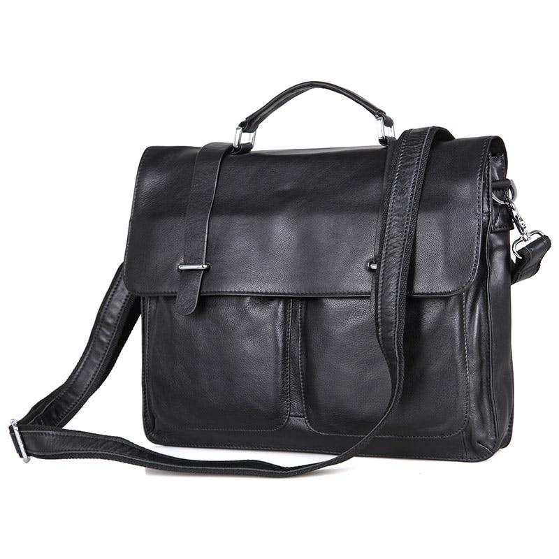 J.M.D High Quality Real Leather Men's Briefcase Portfolio Business Bag Messenger Bag 7100A