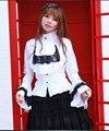 Branco/preto old-fashioned estilo flare manga blusas de algodão para as mulheres de alta qualidade do vintage real imperial feminino blusa lolita